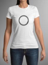 Dámské bílé triko se symbolem těla vědomí – kruh