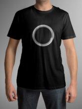 Pánské černé triko se symbolem těla vědomí – kruh