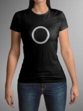 Dámské černé triko se symbolem těla vědomí – kruh